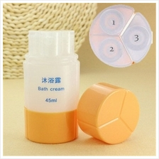 3 In 1 Portable Travel Toiletry Empty Shampoo Body Cream Bottle