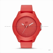 SKECHERS Watch SR5010 Men's Rosecrans Oversized Silicone Strap Red