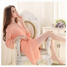 fd84da790a MS529 Peach Chiffon Two Piece In One Set Sleepwear Robe Lingerie