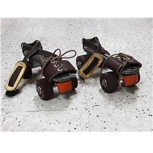 Vintage SEIKO Roller Skates Real Leather Antique Metal 69a0a2f139