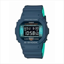 Casio G-SHOCK Men Navy Blue Digital Square Watch DW-5600CC-2DR