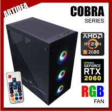 ^ ARTIDEA 80G GHOST COBRA+ GAMING PC ( Ryzen 5 2600 / AB350M MOBO / 8G