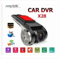 Anytek X28 Car DVR Camera Video Recorder WiFi ADAS G-Sensor Dash Cam F