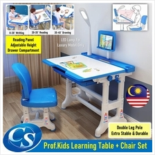Prof. Kids Adjustable Children Homework Learning Study Table Chair Set