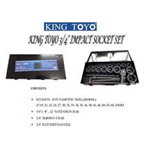 King Toyo 3/4'' Impact Socket Set 23PCS KINGTOYO