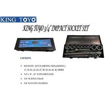 King Toyo 3/4'' Impact Socket Set 16PCS KINGTOYO