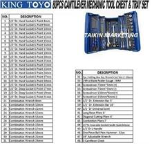 King Toyo 80PCS Cantilever Mechanic Tool Chest & Tray Set Kingtoyo