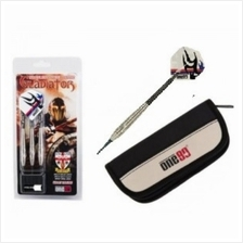 ONE80 SOFT TIP DART - GLADIATOR - STAINLESS STEEL WITH WALLET (18g)
