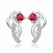 PAIR OF DELICATE WOMEN'S RHINESTONE (RED)