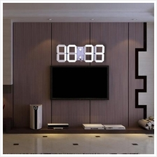 US PLUG WHITE Remote Control Big LED Digital Wall Clock Stopwatch Ther. bf10dbce54