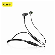 Awei G20BL Dual Drivers Wireless Bluetooth Headphones Neckband Sport Earbuds (