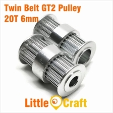 Twin Belt GT2 Timing Pulley 20 Teeth Bore 5mm or 8mm