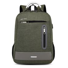 f6baa805652 ARMY GREEN USB Charging Earphone Hole Laptop Backpack Canvas Large Cap.