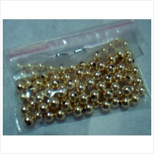 SALE DIY 14K Gold ( 585 ) Filled Bali Beads Round Suasa Crystal