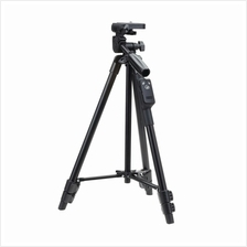 JS YUNTENG VCT-5208 TRIPOD W/ 3-WAY HEAD  & BLUETOOTH REMOTE + CLIP FOR