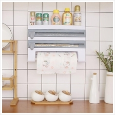 Kitchen Wall Shelve Tissue Paper Film Wrap Foil Paper Storage Rack