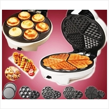 5-in-1 Waffle Maker, Electric Baking Pan, Pancake Maker Machine