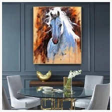100% handpainted oil paintings 60x100cm horses
