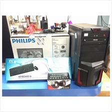 "New Set CPU Core 2 Duo E8500 With Philip 18.5"" LED Monitor"