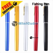 Mini Pen Fishing Pen Rod Telescopic Portable Pocket Aluminium Reel