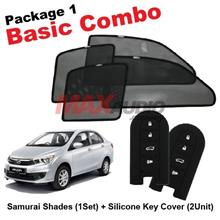 P1* PERODUA BEZZA SAMURAI SHADES + Key Cover