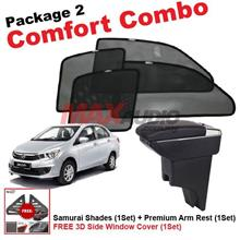 P2* PERODUA BEZZA SAMURAI SHADES + Arm Rest