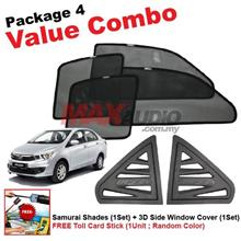 P4* PERODUA BEZZA SAMURAI SHADES + Window Cover