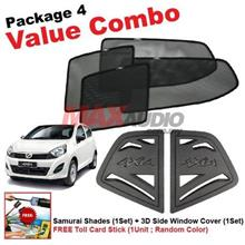 P4* PERODUA AXIA SAMURAI SHADES + Window Cover