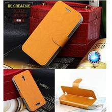 Lenovo S660 PU Leather Flip Case Cover + Free Screen Protector