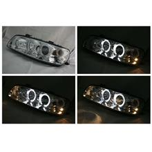 Fiat Punto 99-03 Chrome Projector Headlamp with Ring