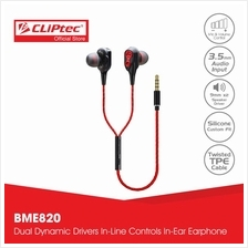 CLiPtec 2SOUL Dual Dynamic Drivers In-Ear Earphones BME820)