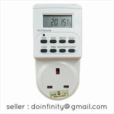 SUM 7 Day UK 3 Pin Outlet Plug Digital LCD Programmable Timer SIRIM