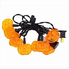 10 LEDS 2M AC 110V HALLOWEEN PUMPKIN STRING LAMP FOR DECORATION (YELLOW)