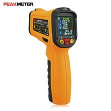 DARK ORANGE PEAKMETER PM6530D Digital Laser Non-contact Infrared Therm..