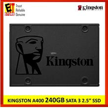 KINGSTON SSD A400 SATA3 2.5'- 240GB (7mm HEIGHT) SA400S37/240G