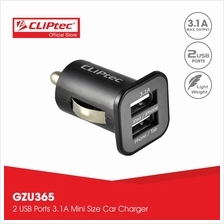 CLiPtec Dual USB Ports 3.1A Car Charger GZU365)