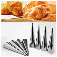 10Pcs/Set Stainless Steel Baking Pastry Cream Conical Tube Cone Roll H
