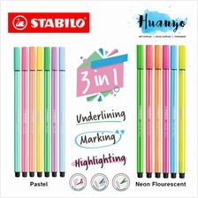 STABILO Pen 68 Marking Text Highlighter Highlight Pen (Per Pcs)