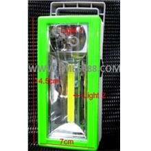 *LED Emergency^Dual Light Camp Lamp Battery Operated