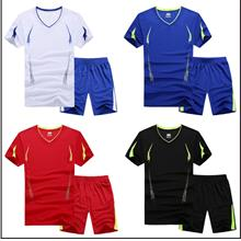 Men's Sports Suit Short-sleeved Quick-drying Fabric Fat Fitness Training Suit