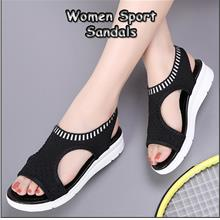 Women Sport Sandals Wild Elastic Belt Thick Bottom Fish Mouth Mesh