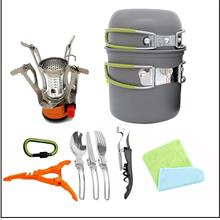 1-2 People Portable Camping Set Pot Hiking Backpack Cookware