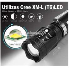Super Bright Zoomable XM-L T6 LED 18650 Torch Light