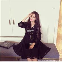 Large Size Korean Style Mid-length Loose Dress