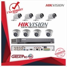 HIKVISION CCTV 8 CHANNEL FULL HD 1080P H 265 DVR PACKAGE