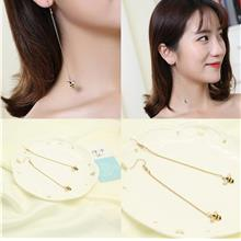 CELLY Fashion Creative New Flower Bee Asymmetric Earrings