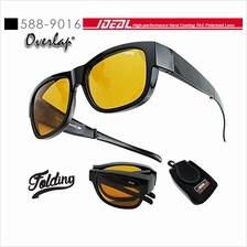 4GL IDEAL 588-9016 Overlap Folding Polarized Sunglasses UV400 Cemin Ma