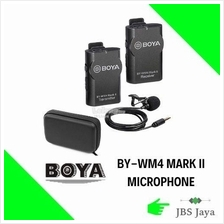 BOYA BY-WM4 Wireless Lavalier Microphone with Receiver Transmitter