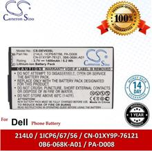 Ori CS DEV03SL Dell 214L0 / 1ICP6/67/56 / CN-01XY9P-76121 Battery
