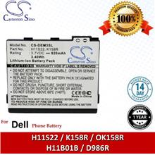 Ori CS DEM3SL Dell H11S22 / K158R / OK158R / H11B01B / D986R Battery